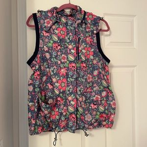 Oilily Sporty floral print vest women's size L EUC